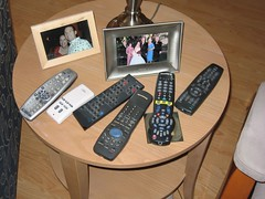 Remote Controls for the TV & Stereo