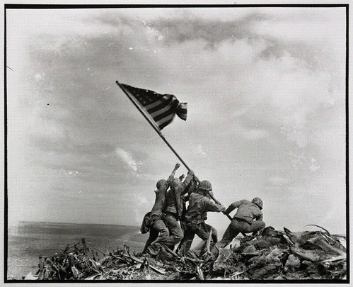 Flag raising on Mt. Suribachi, Iwo Jima