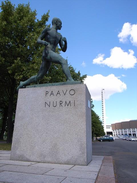 Paavo Nurmi y el estadio olímpico de Helsinki