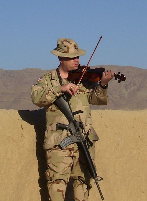 Fiddlin' in Afghanistan.