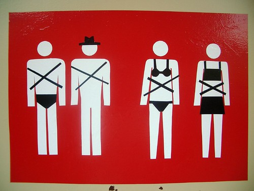 Naked men with hats not allowed in this church by Björn Banan