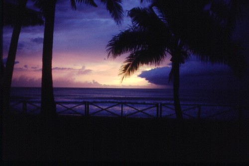 Philippine sunset, 1983, by Michael Bates. All rights reserved.