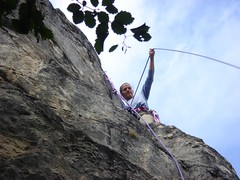 free solo climbing(0.0), adventure(1.0), individual sports(1.0), sports(1.0), recreation(1.0), outdoor recreation(1.0), mountaineering(1.0), rock climbing(1.0), sport climbing(1.0), extreme sport(1.0), abseiling(1.0), climbing(1.0),