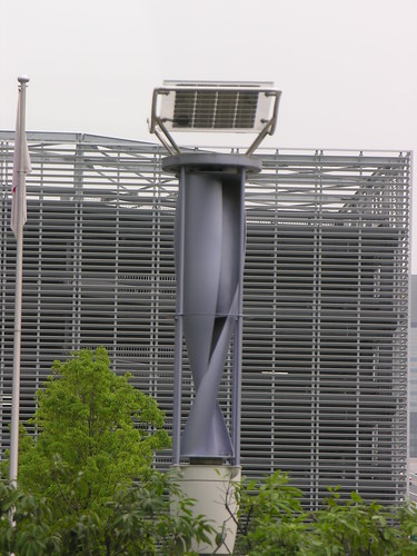 Solar/Wind Turbine Lampost