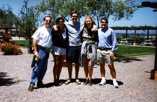 John, Hoyt, Shane, Amy, Me on a Napa Winery