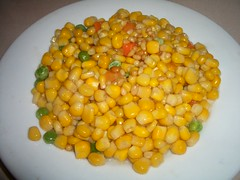 agriculture(0.0), chana masala(0.0), plant(0.0), produce(0.0), fruit(0.0), crop(0.0), sweet corn(1.0), vegetable(1.0), corn kernels(1.0), vegetarian food(1.0), food(1.0), dish(1.0), cuisine(1.0),