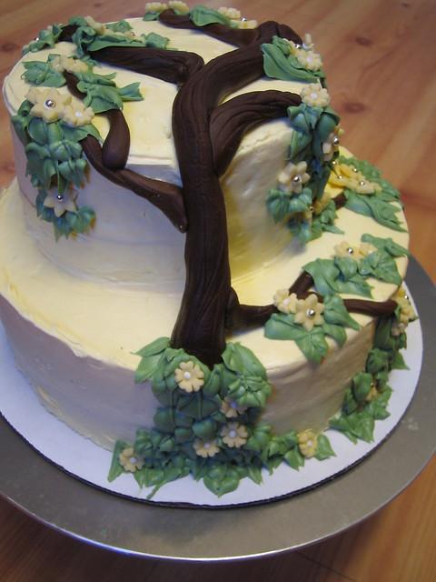Flowering Tree Wedding Cake