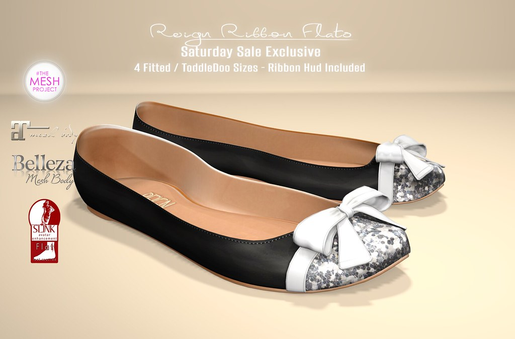 REIGN - RIBBON FLATS | Available For The Saturday Sale 8/29