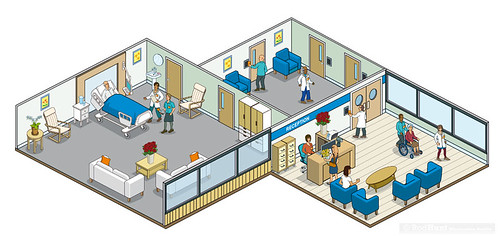 Healthcare - Ultra Electronics ID: Isometric Pixel Art Website Illustrations