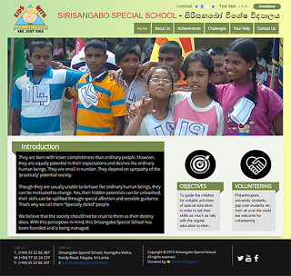 Website Launched - Sirisangabo Special School at Pasyala, Sri Lanka. http://ift.tt/1OugGr1 They are born with lesser completeness than ordinary people. However, they are equally potential in their expectations and desires like ordinary human beings. They