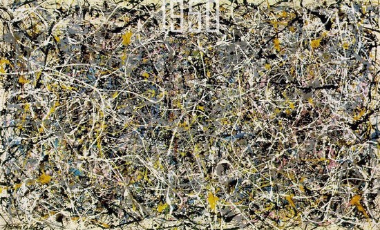 美国抽象派艺术家Jackson Pollock1950年的作品