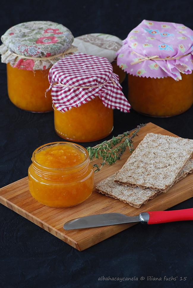 Peach thyme jam