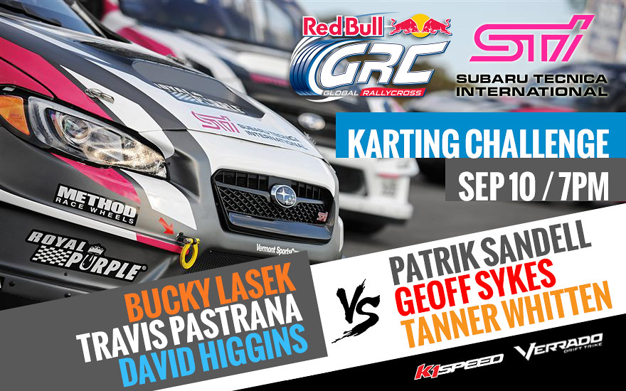 Red Bull Grc Karting Challenge Fueled By Subaru Sti K1 Speed
