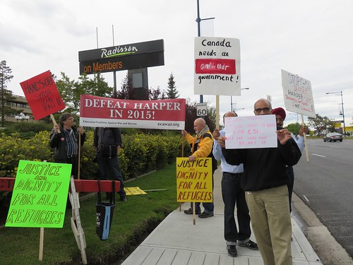 Stop Harper Picket: September 9, 2015