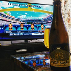 Time for some Sunday relaxation with the first week of #NFLFootball! I avoided my phone all day and recorded the #MiamiDolphins game. #FinsUp #StrongerTogether 🏈🏈💪😄 @highlandparkbrewery #LazySuzan for this special occasion.