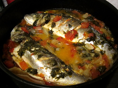 Turkish Fish Stew with Tomato and Lemon