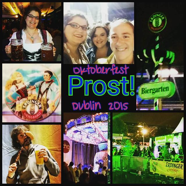 Prost! Oktoberfest 2015, Dublin Ireland. #erdinger #prost #bier #autumn #oktoberfest #drink #dirndl #dublinlife #dublin #ireland #festival #friday #tgif