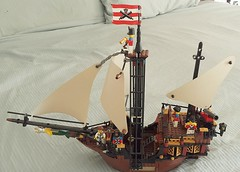 When I put two Brickbeard's Bountys  together to make my Brickbeard's Revenge this is what was left. A smaller ship reassigned to the Redcoats.