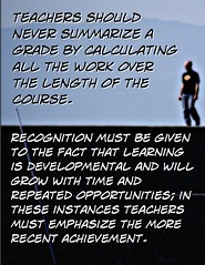 Educational Postcard: Need to recognize most recent achievement when summarizing grades