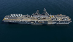 aircraft carrier, naval ship, vehicle, ship, amphibious assault ship, supercarrier, dock landing ship, light aircraft carrier, watercraft, battleship,