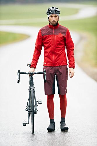 Chaqueta y pantalón goretex para bicicleta y esquí de fondo