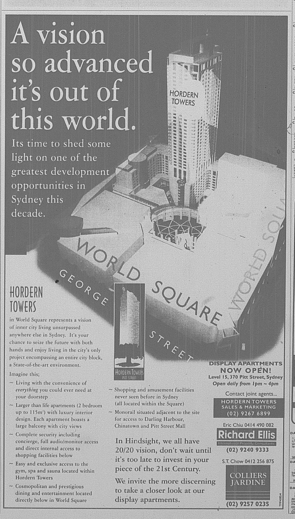 Hordern Towers Ad SMH May 24 1997 17RE