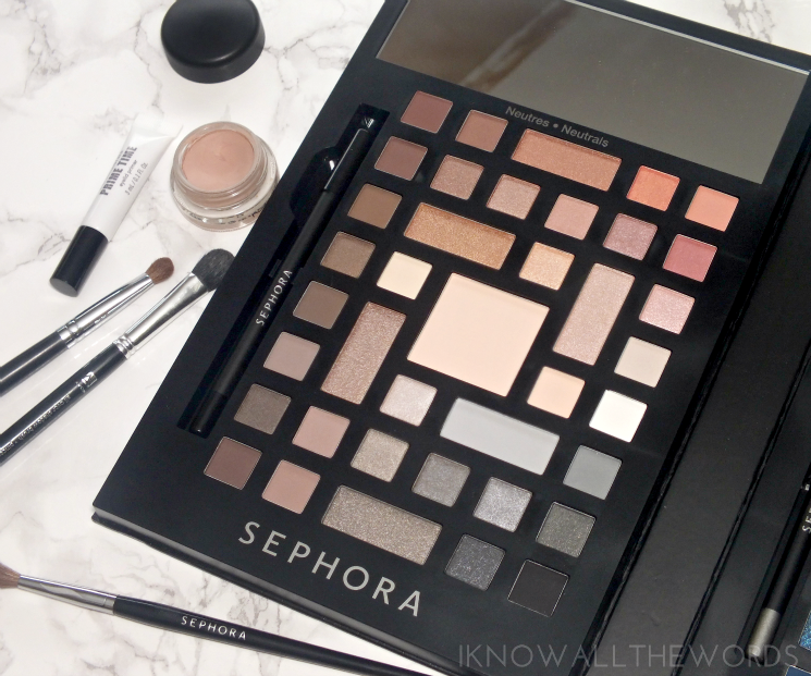 Sephora Collection Colour Wonderland Neutral & Vivid Eyeshadow Palette - Neutral side (2)