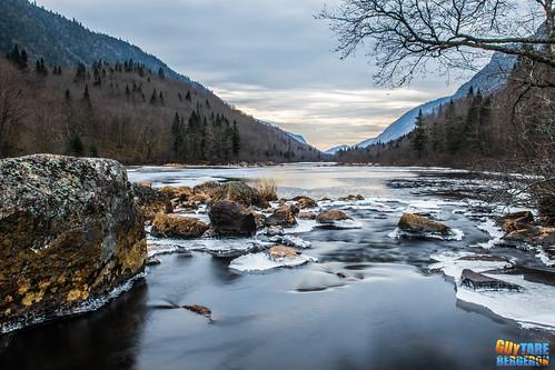 Frozen waterscape