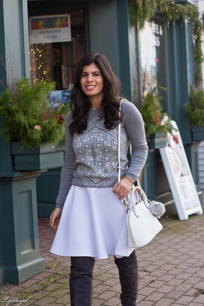 grey sweater, white skirt, over the knee boots-3.jpg