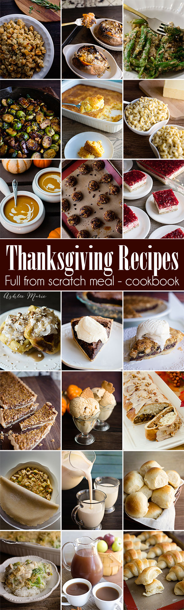 Homemade Thanksgiving - the perfect turkey, amazing sides, rich desserts, buttery breads, delicious drinks and even what to do with your leftovers. 43 amazing from scratch recipes you need at the dinner table