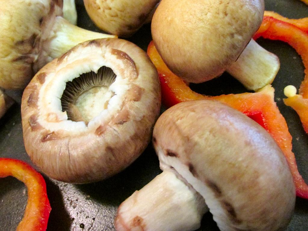 Mushrooms And Red Pepper