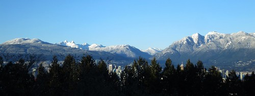 The Lions and the North Shore Mountains from Queen Elizabeth Park