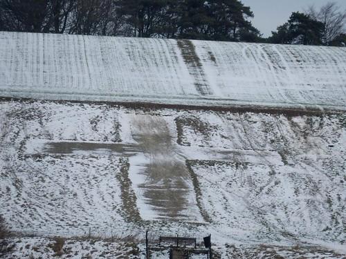 Lenham Cross - in the snow