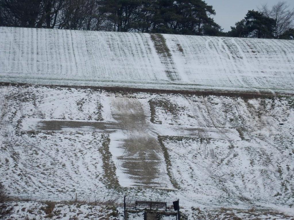 Lenham Cross - in the snow Lenham to Charing
