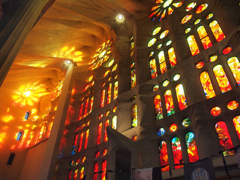 Sagrada Familia stained glass