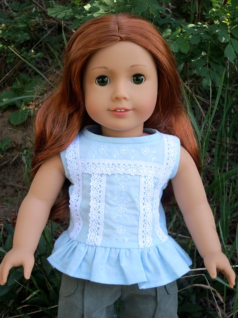 American Girl doll clothes doll blouse free pattern