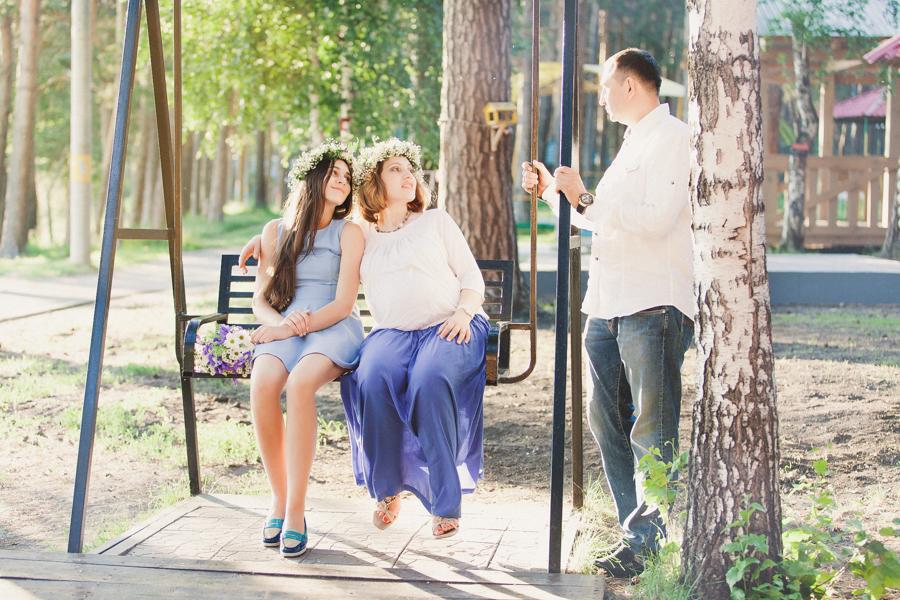 Летняя семейная фотосессия в парке