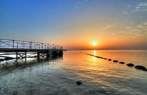 red sea vacation sun egypt hurghada słońce pomost