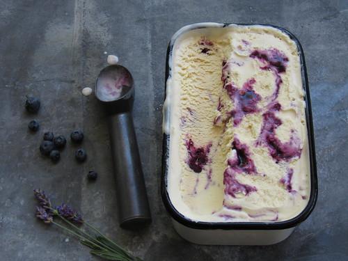 Blueberry Lavender Ice Cream