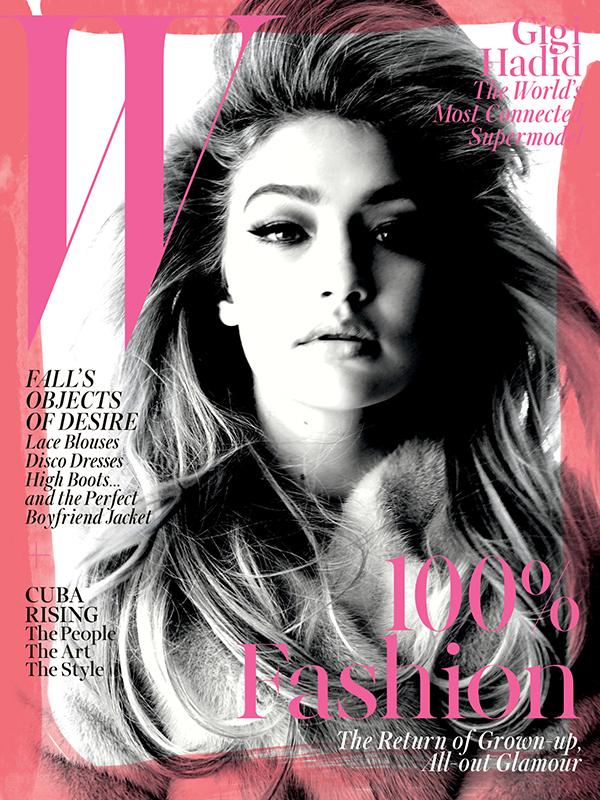 W MAGAZINE SEPTEMBER 2015 COVER