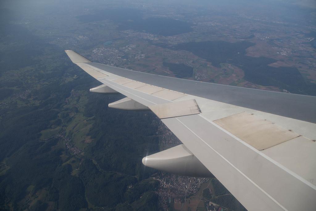 Boeing 747 - Kuwait Airways - above Germany