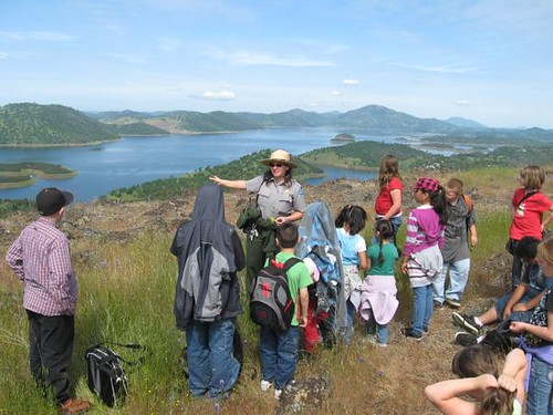 Ranger leading a youth program at New Melones Reservoir.