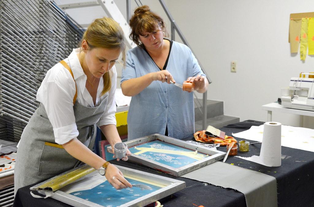 Workshop Lotte Martens: drukken
