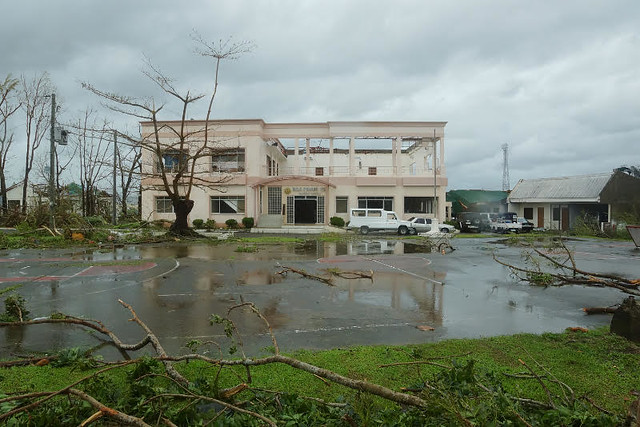 The DILG Region VIII office sustained extensive damage during Super Typhoon Yolanda (I)