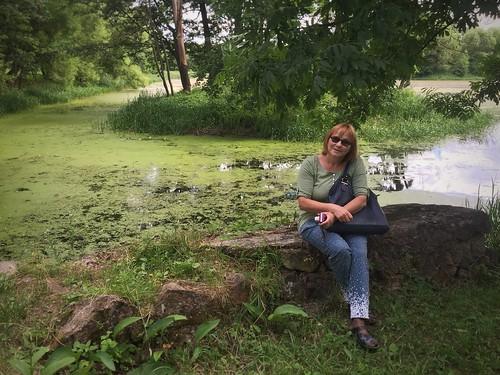 park people lake green water belarus zalesie