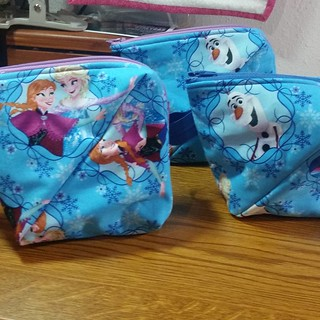 Three more Bendy Bags, all Frozen, so I could chain sew them. They will make great gifts.