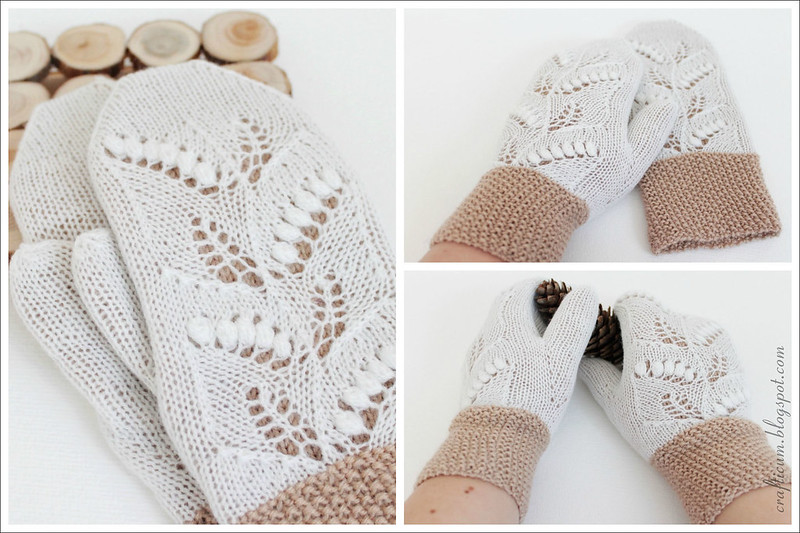 Lily of the valley mittens