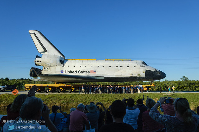 Fri, 11/02/2012 - 17:31 - Upon arriving at the Kennedy Space Center Visitor Complex, Atlantis was joined by a large group of astronauts representing all previous US space programs. - November 02, 2012 5:31:00 PM - , (28.5258,-80.6823)