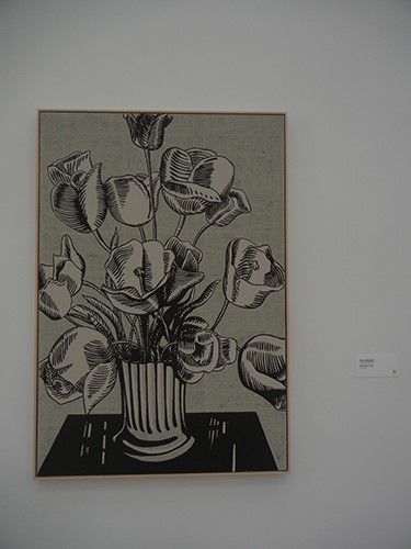 DSCN0379 _ Black Flowers, 1961, Roy Lichtenstein, Broad Museum, LA