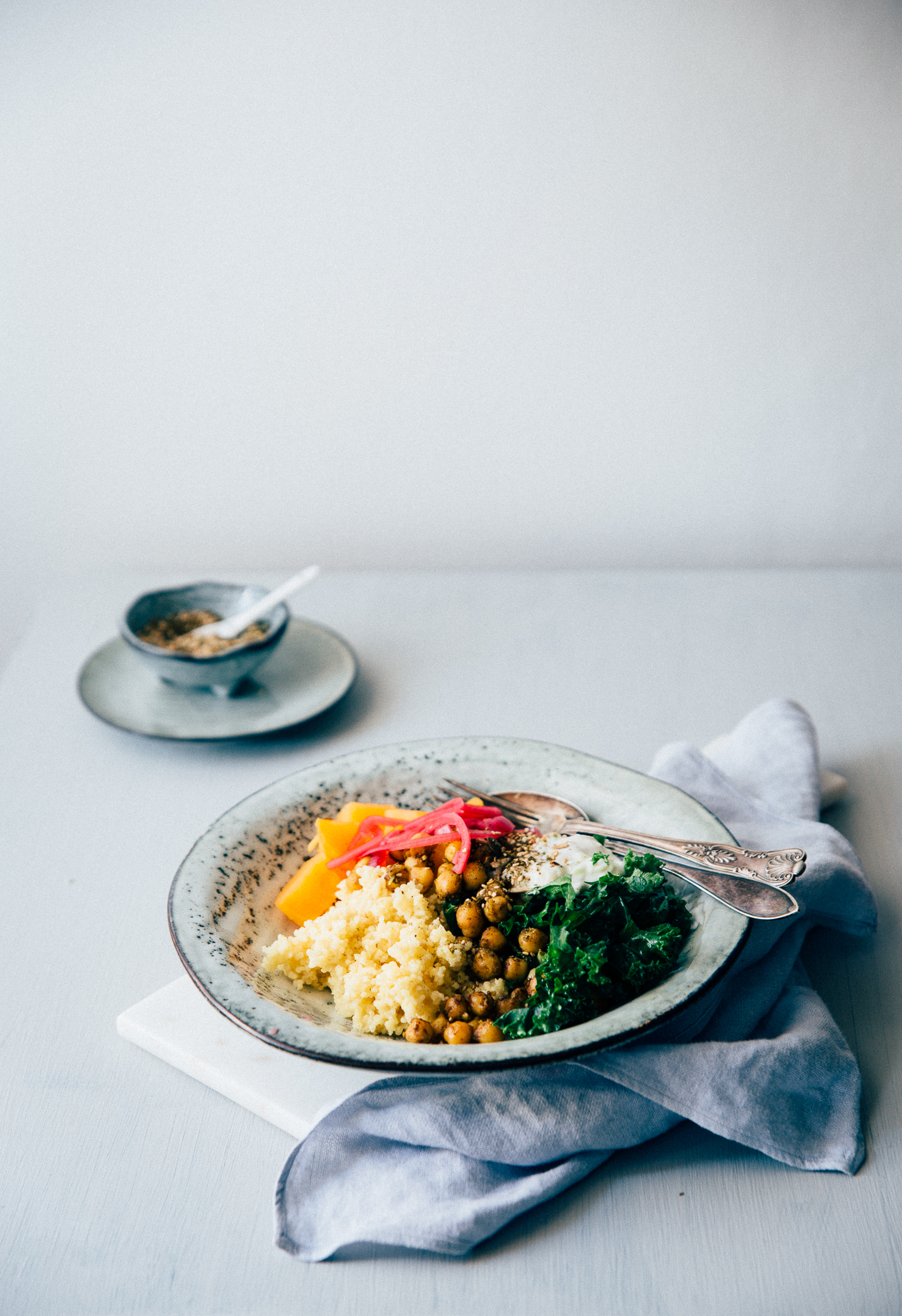 Hippie Bowl with Spicy Chickpea, Millet & Sweet Potato   Cashew Kitchen